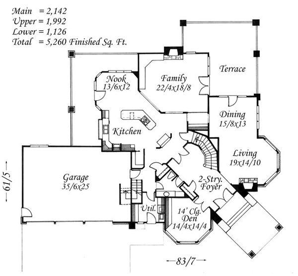 European Floor Plan - Main Floor Plan Plan #509-47