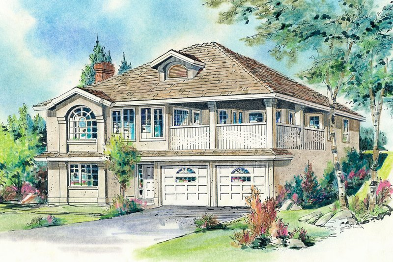 House Blueprint - Traditional Exterior - Front Elevation Plan #18-114