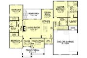 Craftsman Style House Plan - 3 Beds 2 Baths 2086 Sq/Ft Plan #430-172 Floor Plan - Main Floor