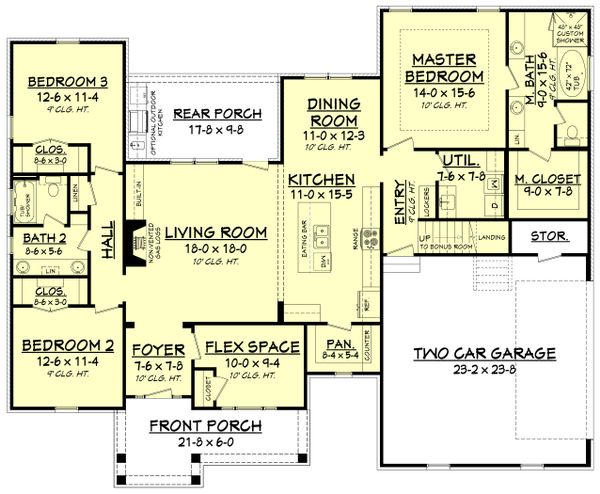 Craftsman Floor Plan - Main Floor Plan Plan #430-172