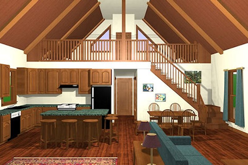 Cabin Photo Plan #56-133 - Houseplans.com