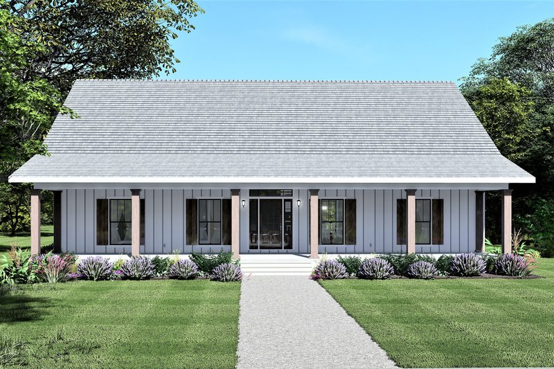 Architectural House Design - Farmhouse Exterior - Front Elevation Plan #44-249