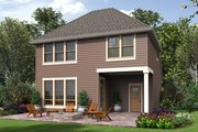 Cottage Style House Plan - 4 Beds 2.5 Baths 1687 Sq/Ft Plan #48-674 Exterior - Rear Elevation