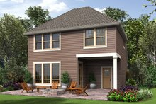 Cottage Exterior - Rear Elevation Plan #48-674