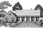 Southern Style House Plan - 3 Beds 2 Baths 2332 Sq/Ft Plan #36-206 Exterior - Front Elevation