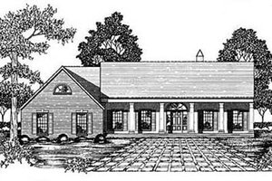 Southern Exterior - Front Elevation Plan #36-206