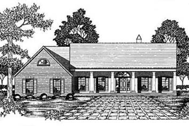 Southern Exterior - Front Elevation Plan #36-206 - Houseplans.com