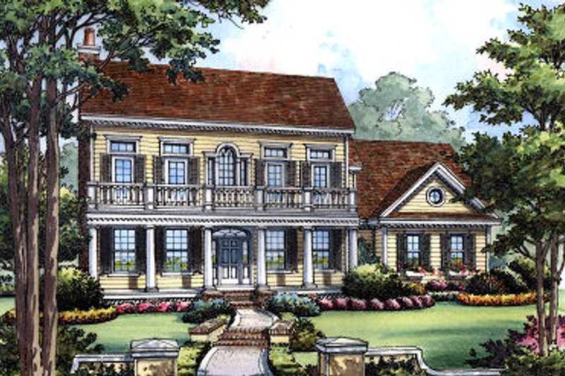 Dream House Plan - Classical Exterior - Front Elevation Plan #417-207