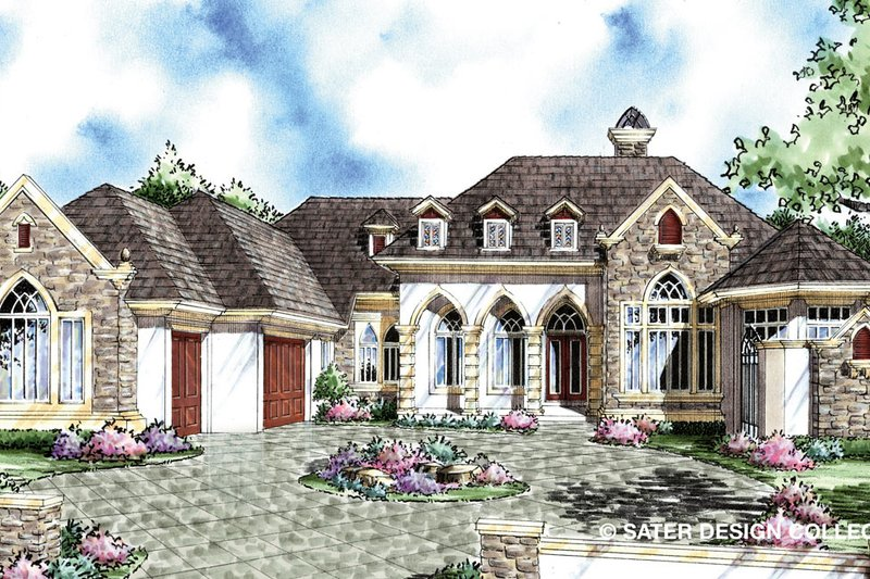 House Plan Design - Traditional Exterior - Front Elevation Plan #930-295