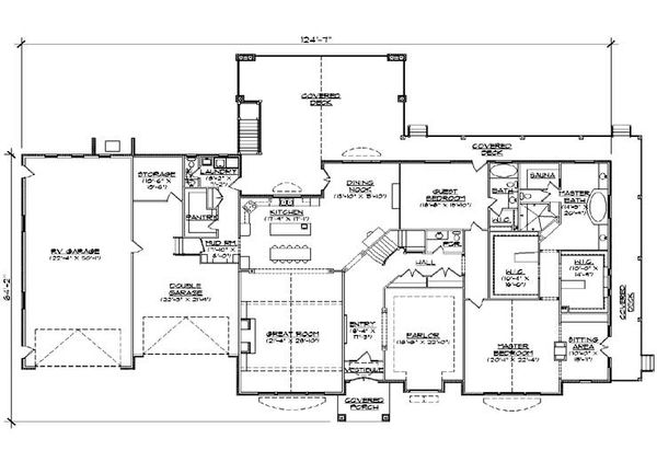 European Floor Plan - Main Floor Plan Plan #5-348