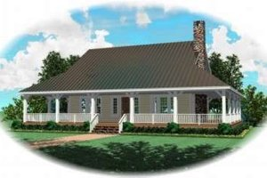 Country Exterior - Front Elevation Plan #81-822