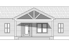Adobe / Southwestern Exterior - Front Elevation Plan #932-119