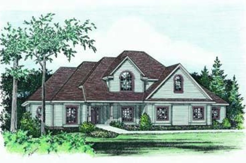 Traditional Exterior - Front Elevation Plan #20-1079 - Houseplans.com