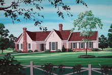 Dream House Plan - Country Exterior - Front Elevation Plan #45-348