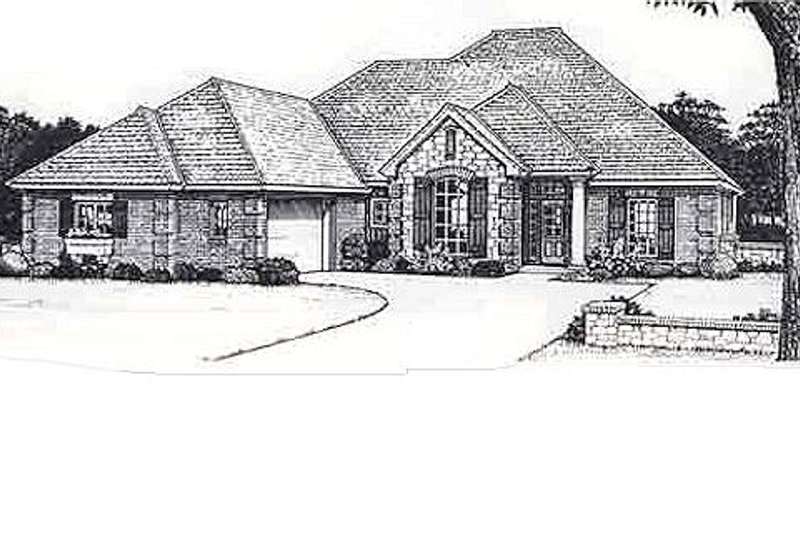 Traditional Style House Plan - 4 Beds 3 Baths 2308 Sq/Ft Plan #310-813 Exterior - Front Elevation