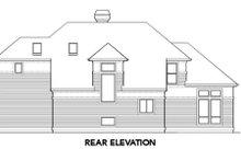 Prairie Exterior - Rear Elevation Plan #48-402