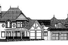 European Exterior - Rear Elevation Plan #413-126