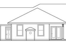 Dream House Plan - Ranch Exterior - Rear Elevation Plan #124-824