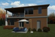Contemporary Style House Plan - 4 Beds 3 Baths 3185 Sq/Ft Plan #1066-126 Exterior - Rear Elevation