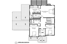 Traditional Floor Plan - Upper Floor Plan Plan #497-20