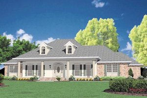 Southern Exterior - Front Elevation Plan #36-225