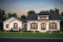 Dream House Plan - Farmhouse Exterior - Front Elevation Plan #430-208