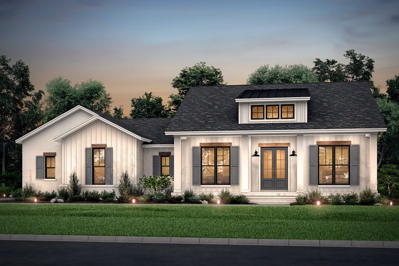 Dream House Plan - Farmhouse Exterior - Front Elevation Plan #430-208