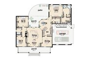 Southern Style House Plan - 3 Beds 2 Baths 1859 Sq/Ft Plan #36-164 Floor Plan - Main Floor Plan