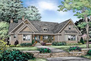 Dream House Plan - Craftsman Exterior - Front Elevation Plan #929-32