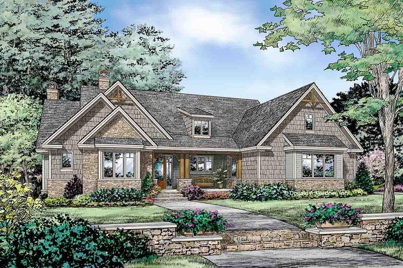 Dream House Plan - Craftsman Exterior - Front Elevation Plan #929-32