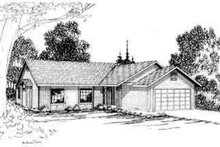 Ranch Exterior - Front Elevation Plan #124-168