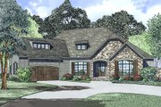 European Style House Plan - 4 Beds 2.5 Baths 2631 Sq/Ft Plan #17-2523 Exterior - Front Elevation