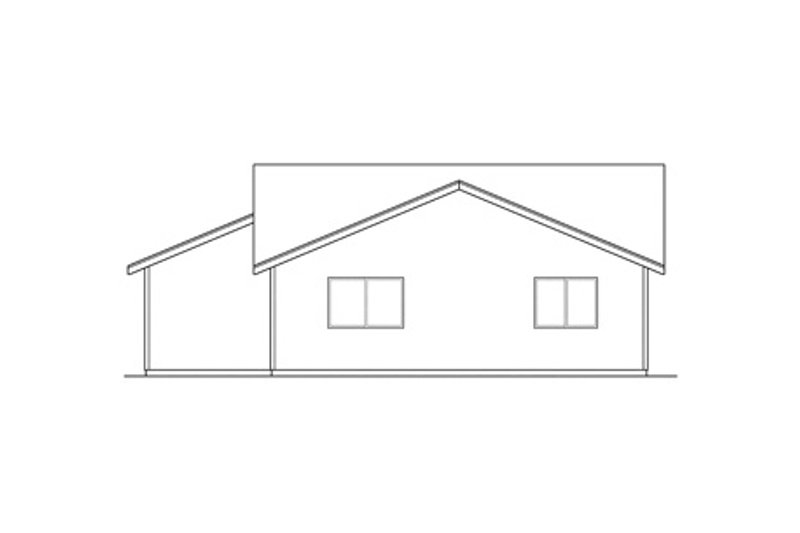 Ranch Exterior - Rear Elevation Plan #124-303 - Houseplans.com