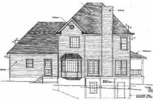 Home Plan - Traditional Exterior - Rear Elevation Plan #10-218