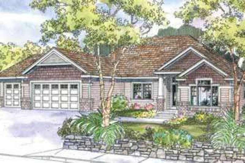 Traditional Exterior - Front Elevation Plan #124-613 - Houseplans.com