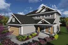 Craftsman Exterior - Front Elevation Plan #70-1239