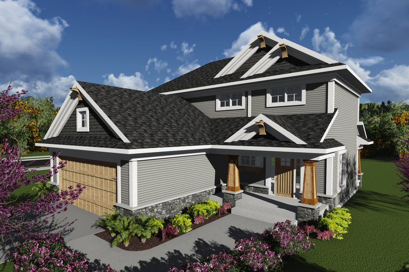 Craftsman Style House Plan - 3 Beds 2.5 Baths 1617 Sq/Ft Plan #70-1239
