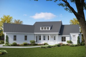 House Design - Farmhouse Exterior - Front Elevation Plan #54-384