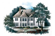 Home Plan - Traditional Exterior - Rear Elevation Plan #429-26