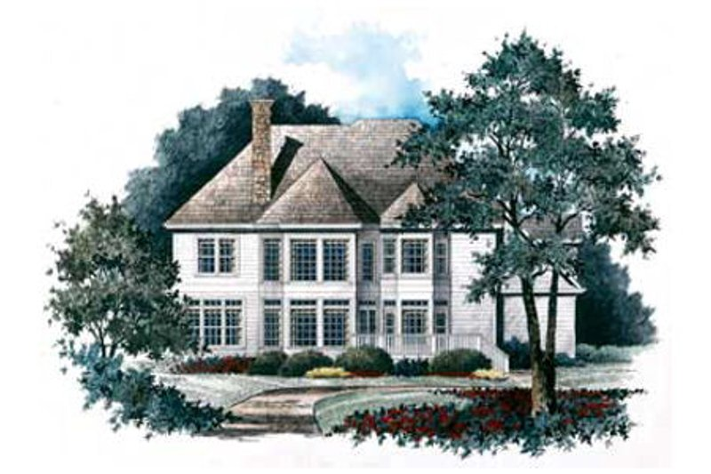 Traditional Exterior - Rear Elevation Plan #429-26 - Houseplans.com