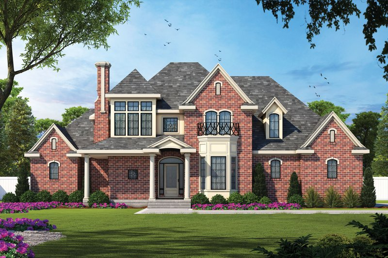 European Style House Plan - 4 Beds 3.5 Baths 2639 Sq/Ft Plan #20-967