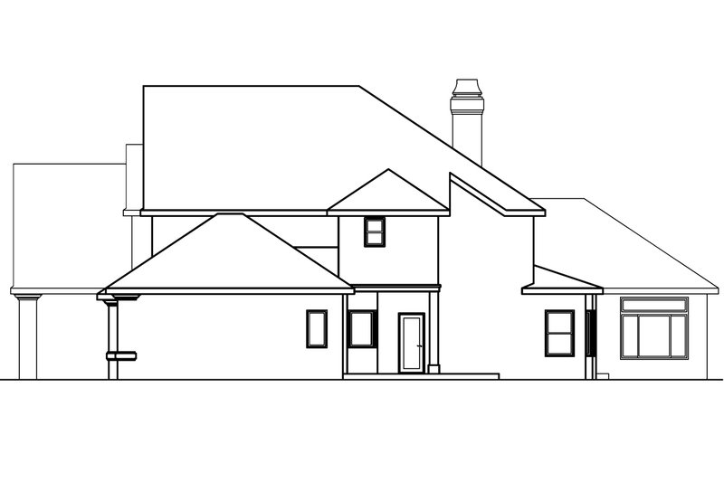 European Exterior - Other Elevation Plan #124-461 - Houseplans.com