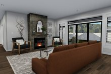 Architectural House Design - Ranch Interior - Family Room Plan #1060-30
