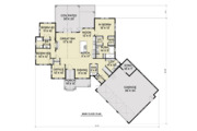 Farmhouse Style House Plan - 3 Beds 2.5 Baths 2271 Sq/Ft Plan #1070-22 Floor Plan - Main Floor