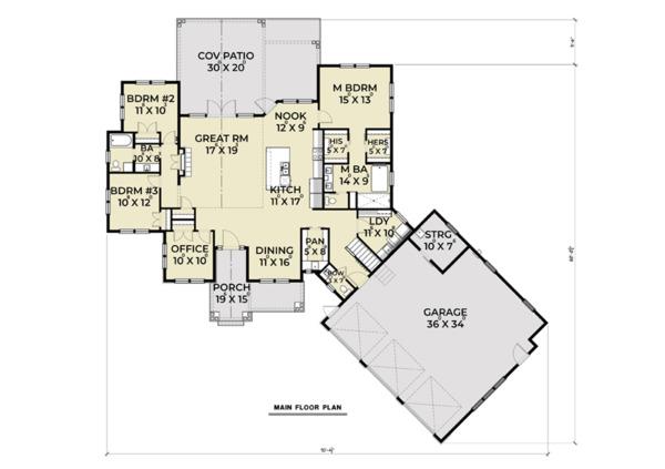 Farmhouse Floor Plan - Main Floor Plan #1070-22