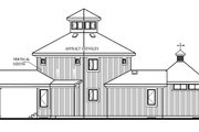 Contemporary Style House Plan - 2 Beds 1 Baths 1152 Sq/Ft Plan #23-2020 Exterior - Rear Elevation