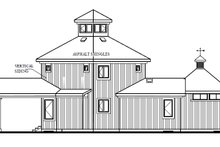 Home Plan - Contemporary Exterior - Rear Elevation Plan #23-2020