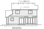 Craftsman Style House Plan - 3 Beds 2.5 Baths 1278 Sq/Ft Plan #96-206 Exterior - Rear Elevation