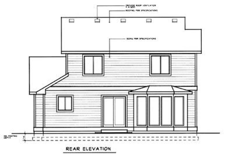 Craftsman Exterior - Rear Elevation Plan #96-206 - Houseplans.com