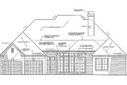European Style House Plan - 2 Beds 2.5 Baths 2641 Sq/Ft Plan #310-266 Exterior - Rear Elevation